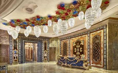 The lobby at the Reverie Saigon.