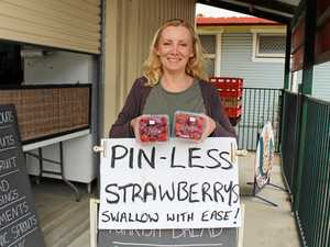Grocer hits back at strawberry crisis with 'pin-less' fruit