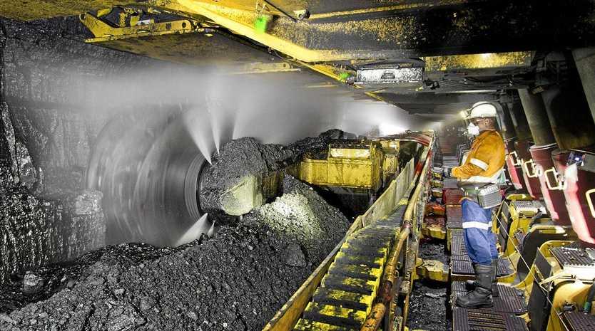 Underground at Peabody Energy's North Goonyella Mine in the Bowen Basin.