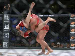 Gympie fighter's pro return ends in brutal knockout