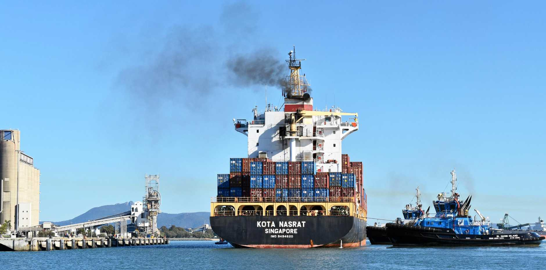 CHANGING TIMES: Gladstone Ports Corporation's fortnightly container service started in August and will help diversify the company.