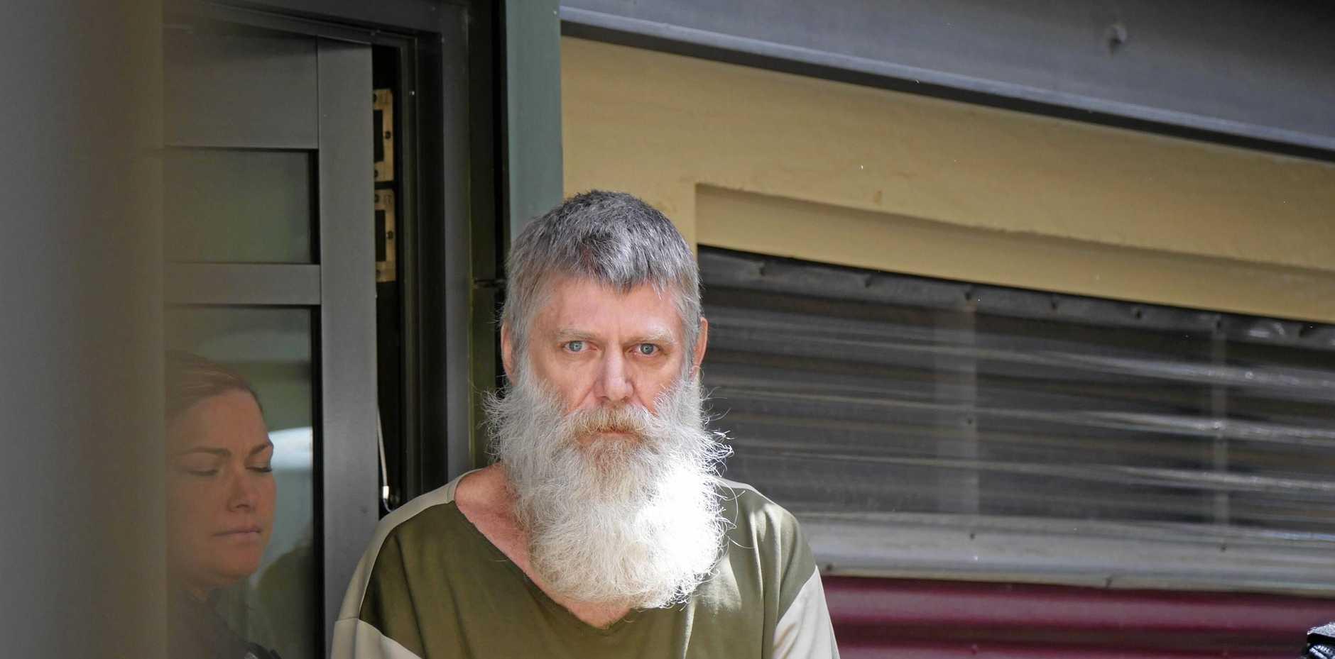 Lock Desmond Richter, 54, leaves Maryborough Magistrates Court after sentencing.