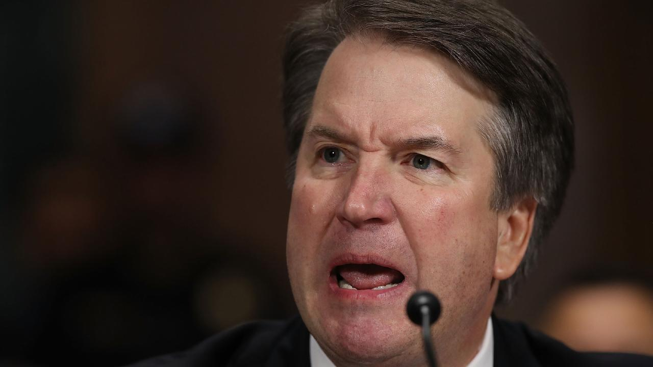 Judge Brett Kavanaugh's testimony and Christine Blasey Ford's accusing him of sexual assault were the latest story in the MeToo movement. Picture: AFP
