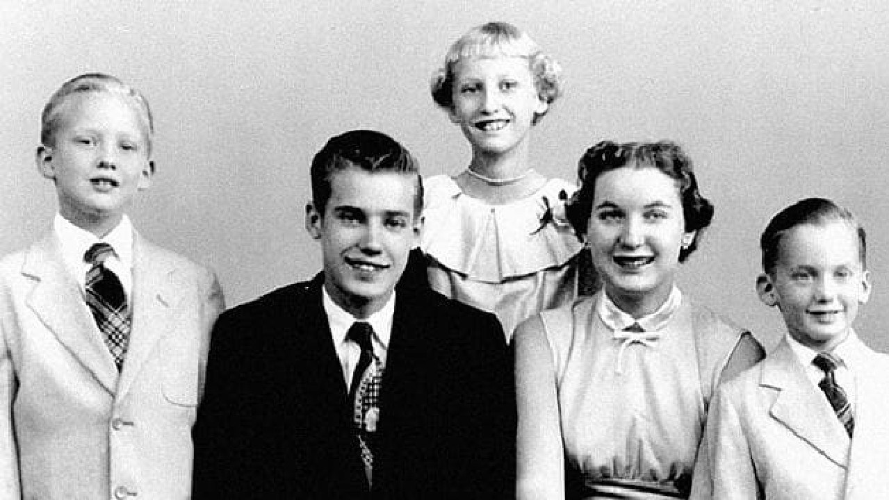 Donald Trump (left) had a very different life to his brother Fred (second from left).