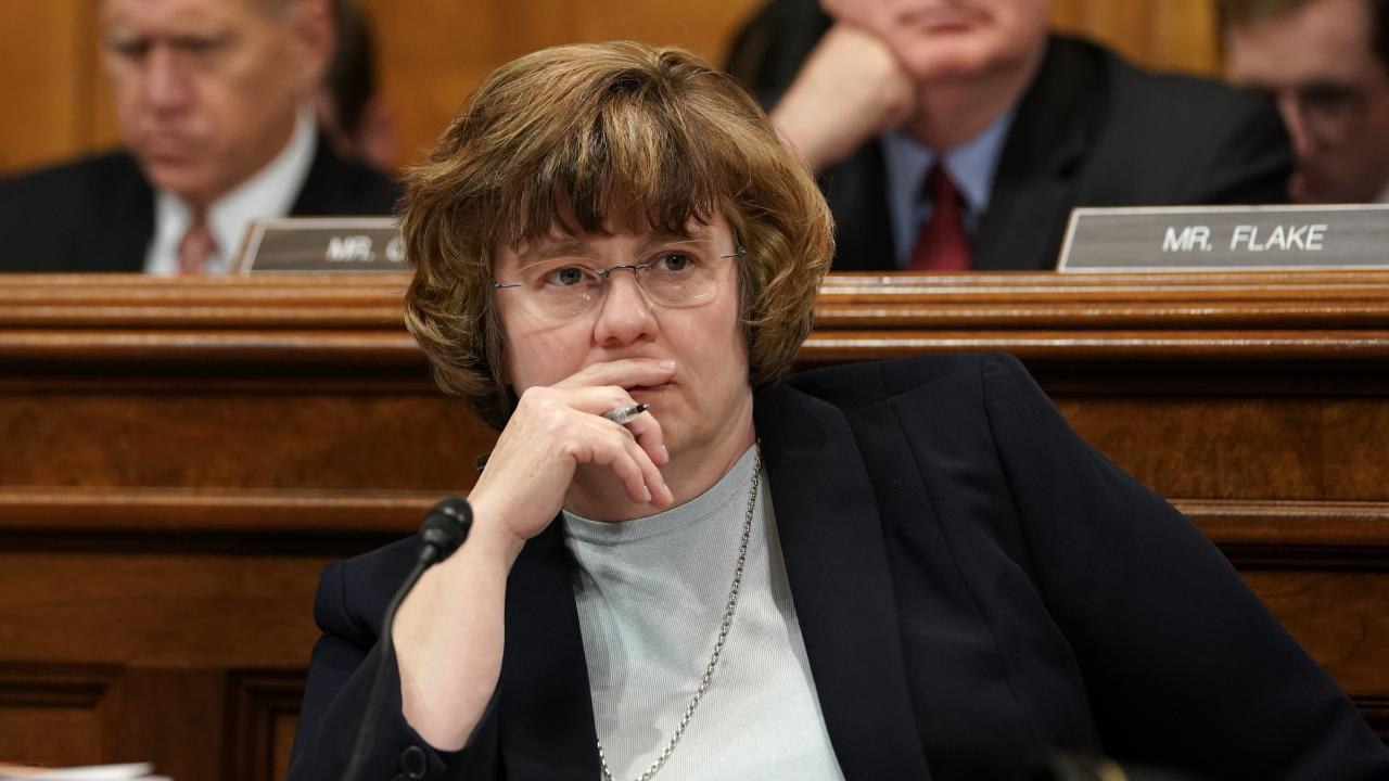 Phoenix prosecutor Rachel Mitchell questioned Blasey Ford on behalf of Republican senators. Picture: AP/Andrew Harnik