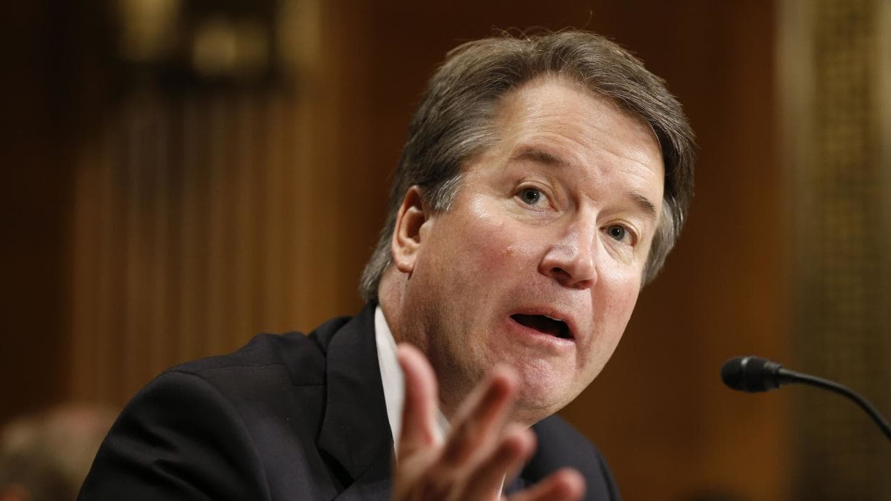 Brett Kavanaugh and his staff allegedly sent text messages in an apparent bid to cover up the indecent exposure allegations against him.