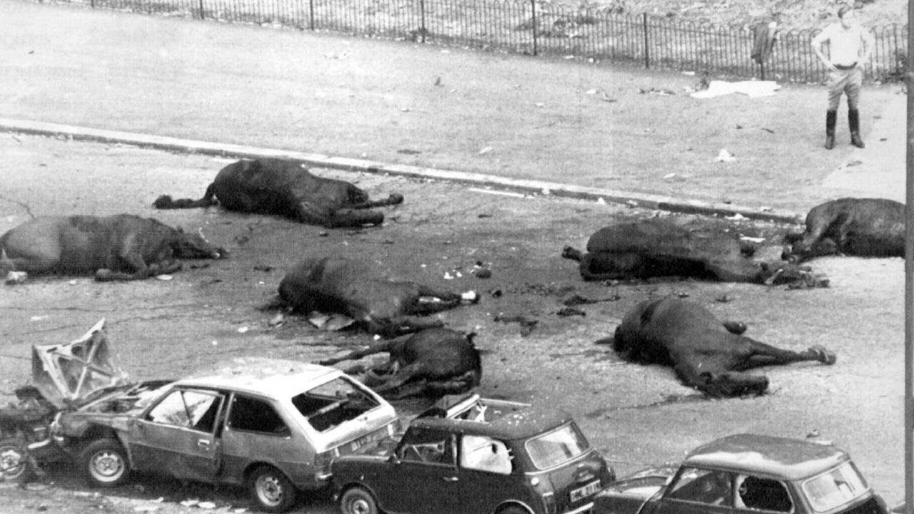 Scene of the 1982 IRA terrorist bombing in Hyde Park. Picture: Supplied