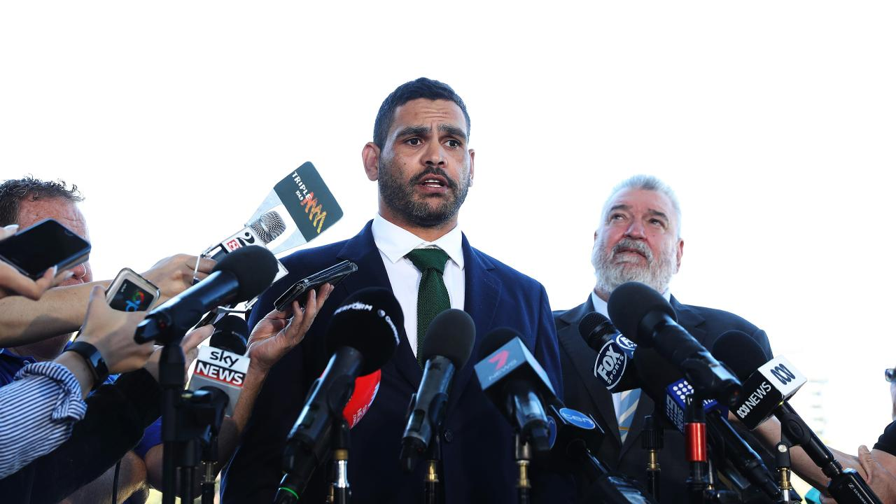 Inglis told reporters he immediately called Kangaroos coach Mal Meninga. Picture: Brett Costello