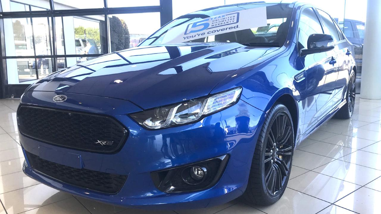 Last Ford Falcon in dealer stock — for sale two years after the factory shutdown. Picture: Westpoint Ford.