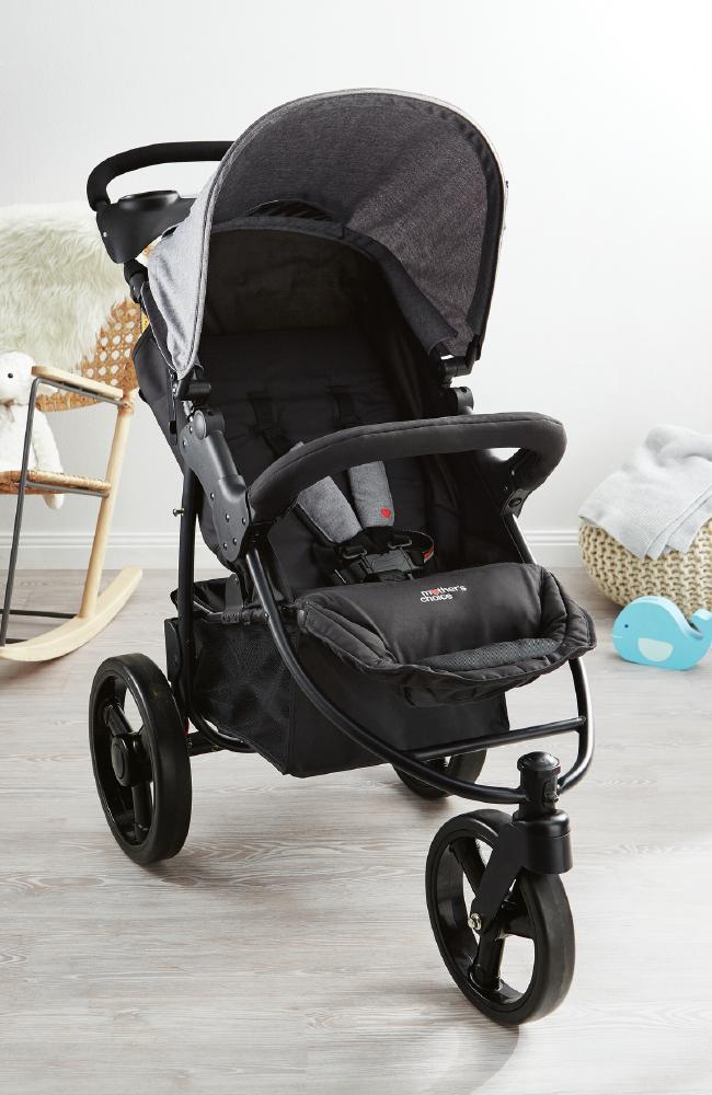 The three-wheel stroller ($129).
