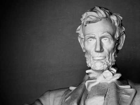 The famous statue of former US president Abraham Lincoln in Washington DC.