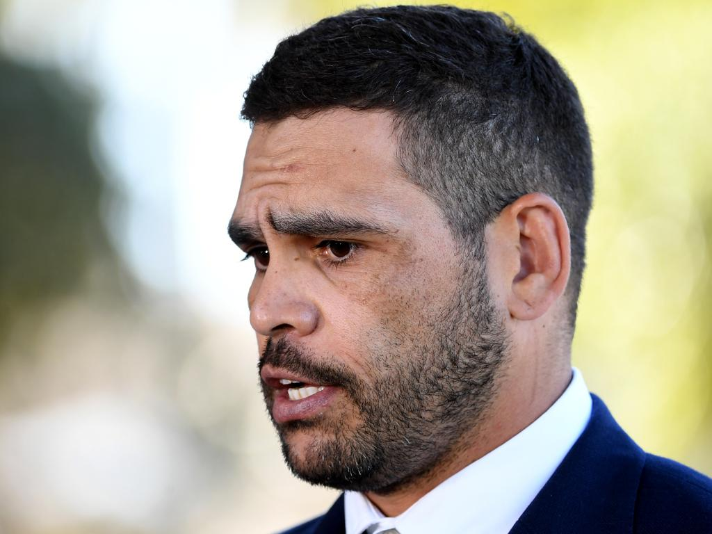 Tough … Inglis faced the public to apologise ahead of the decision to axe him from the Kangaroos team. Picture: AAP