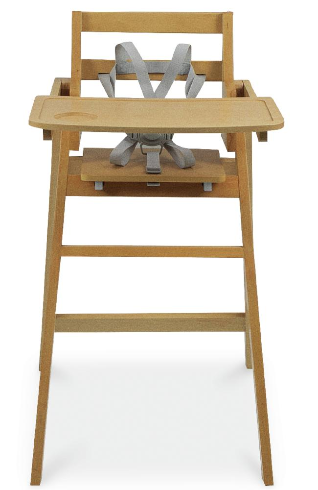 The wooden high chair ($79.99).