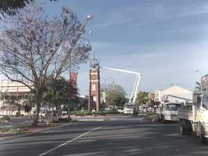 Clocktower crowned for Jacaranda Festival