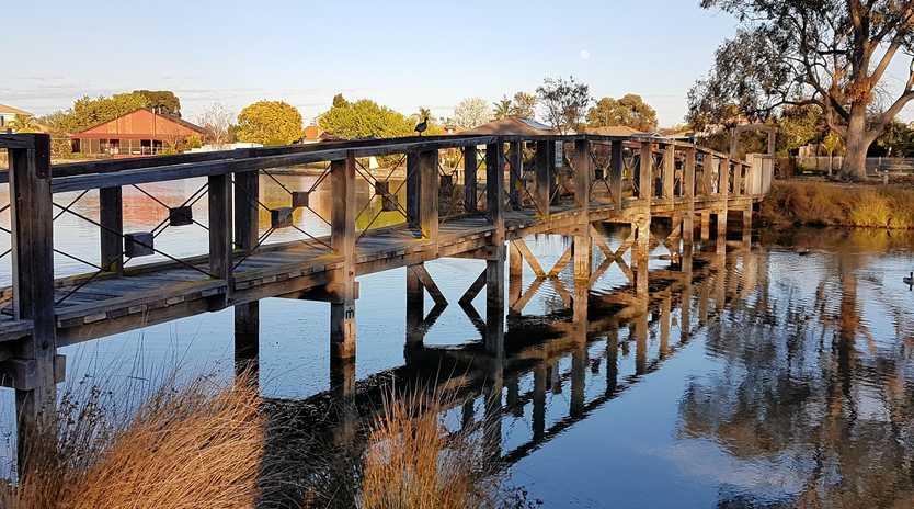 BEAUTIFUL SPOT: Mooroopna's Lake Craigmuir is on Kermie's walking route.