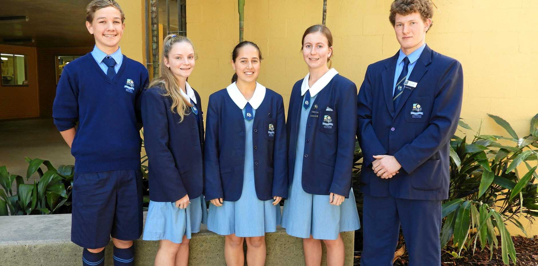 DEEP THINKERS: Pacific Lutheran College students Noah Beasley, Sarah Gale, Olivia Papallo, Karlee Connors and Ethan Hall.