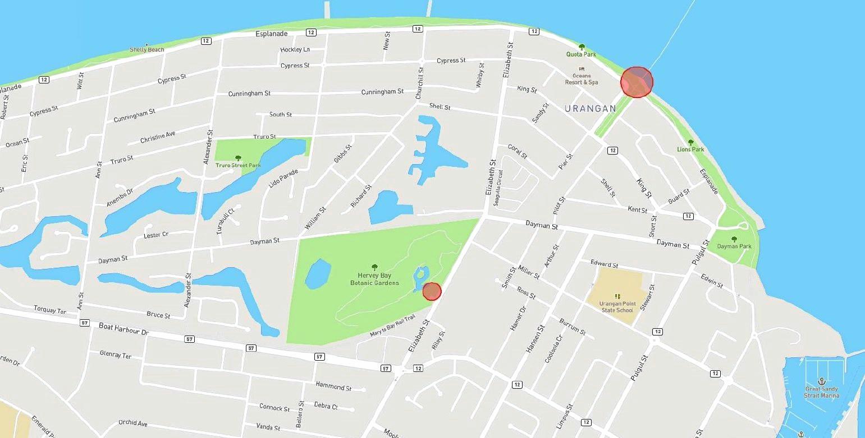 Current CCTV installations across Maryborough CBD, Pialba, Urangan and The Esplanade.