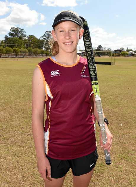 QLD State hockey representatives - Daniella Lourigan.