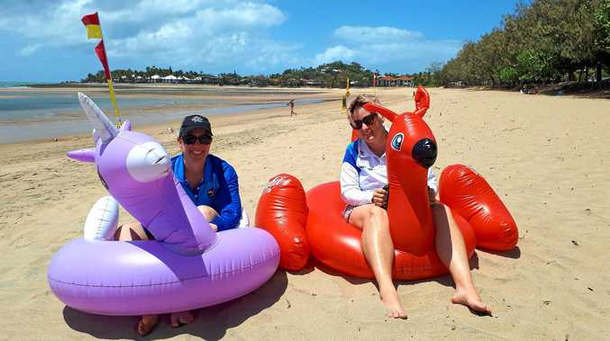 RACING: Cynthia Hegerty (left) and Kelly Anderson are preparing for Mackay's inaugural inflatable boat race at Eimeo.