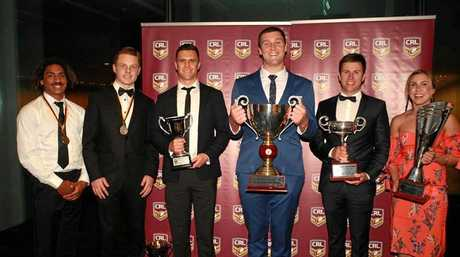 HONOURED: 2018 CRL award winners including Cudgen's Caleb Ziebell and Tweed Coast Raiders who took out the team of the year.