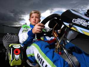 Racing in the fast lane for young kart star Zane