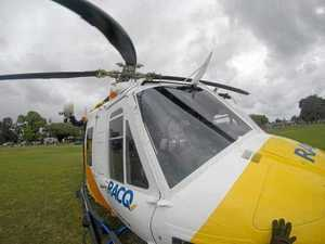 Woman run over by vehicle airlifted to hospital