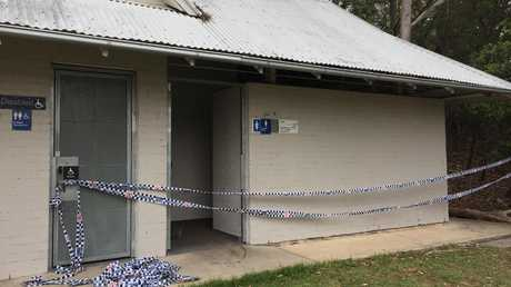 Police have cordoned off the women's toilet block at Buffalo Creek Reserve.
