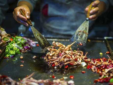 Street food is often overcooked.