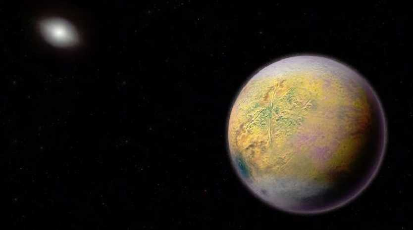 An illustration of the mysterious Planet X. Picture: Carnegie Institute for Science