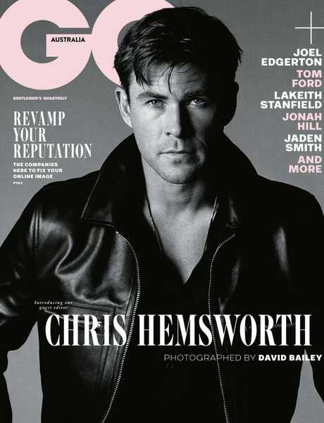 Chris Hemsworth on the cover of GQ. Picture: GQ