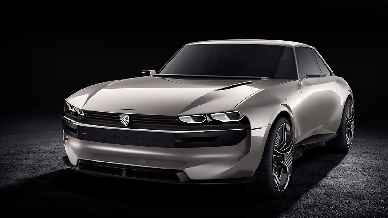 Peugeot's E-Legend concept blends retro looks with modern technology. Picture: Supplied.