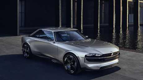 Peugeot's concept oozed retro charm.