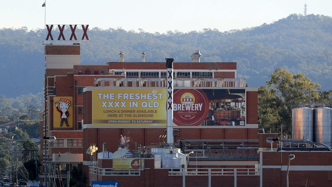 The XXXX brewery at Milton in Brisbane.
