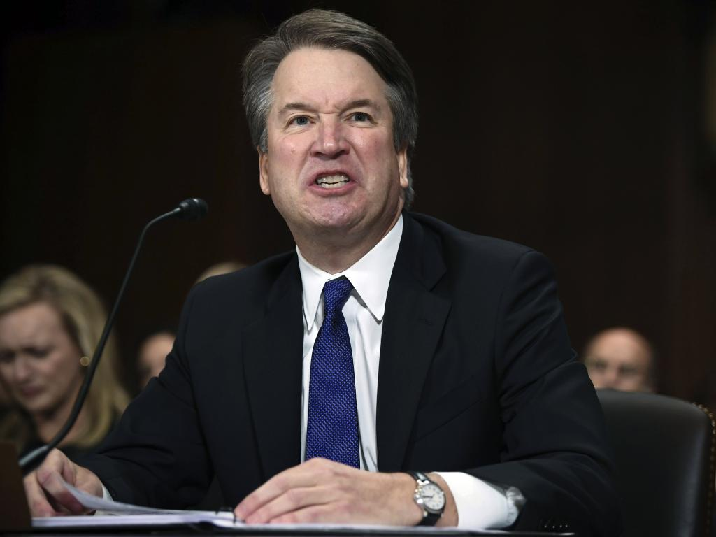 Supreme Court nominee Brett Kavanaugh faces ongoing questions about an alleged sexual assault at a high school party. Picture: AP