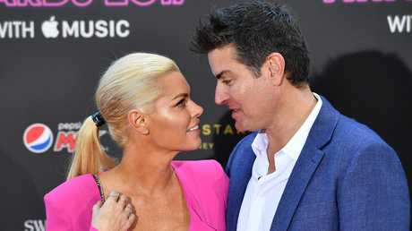 Sophie Monk and Stu Laundy at the 31st ARIA Awards.