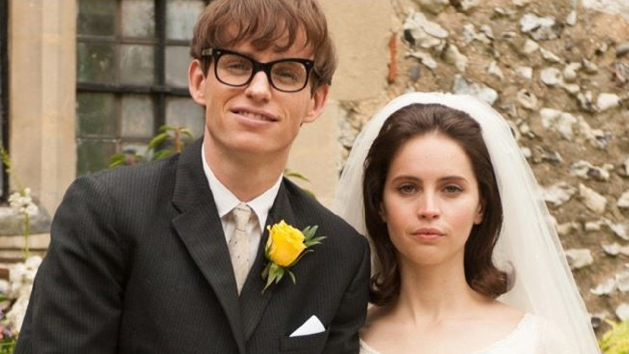 Eddie Redmayne and Felicity Jones as Stephen and Jane Hawking in The Theory of Everything. Picture: Supplied