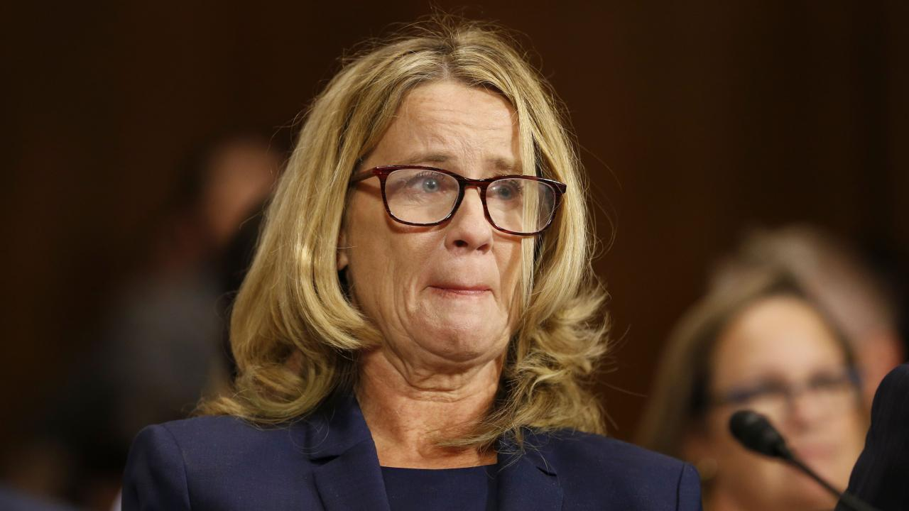 Critics of Christine Blasey Ford are ramping up their attacks, claiming there are various holes in her account of an alleged sexual assault by Brett Kavanaugh. Picture: AFP