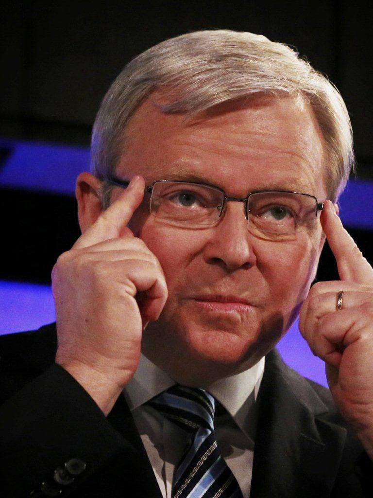 Kevin Rudd's opinion piece reveals not just his paranoia but weak grasp of facts.