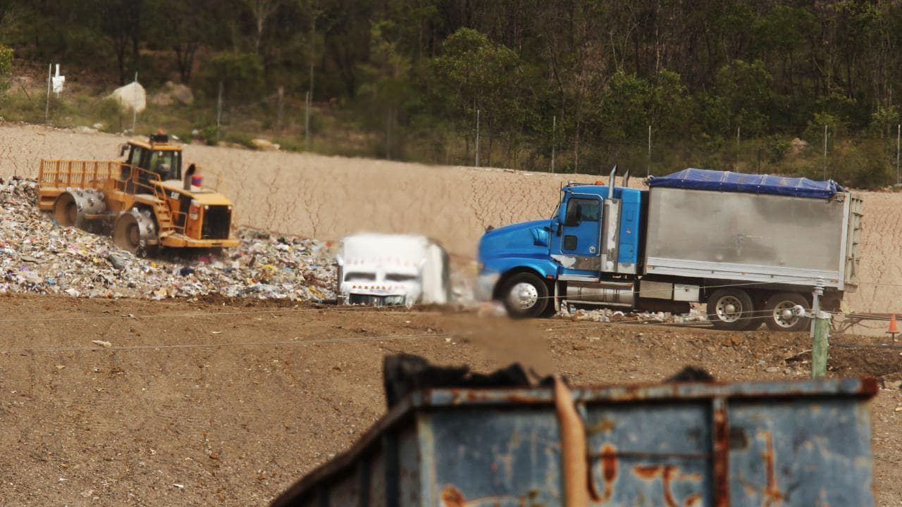 Trucks from NSW dumping their rubbish in Queensland prompted the introduction of the levy.