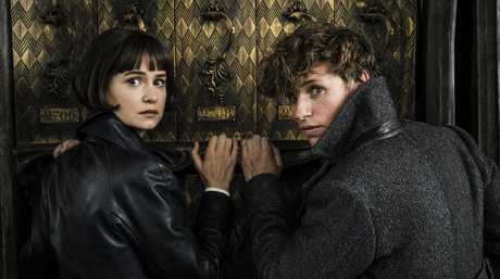 Katherine Waterston and Eddie Redmayne in a scene from Fantastic Beasts: The Crimes of Grindelwald.