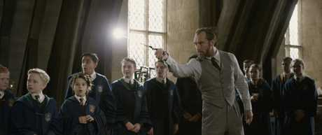 Jude Law as Dumbledore in a scene from Fantastic Beasts: The Crimes of Grindelwald.