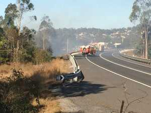 Road reopen as crews take control of Gladstone blaze