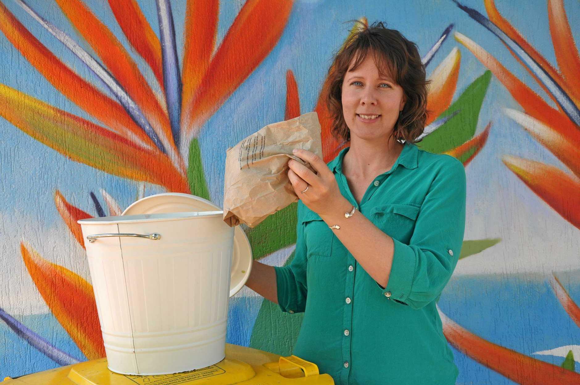 WASTE WARRIOR: Sabrina Burke is encouraging everyone to reduce their waste.