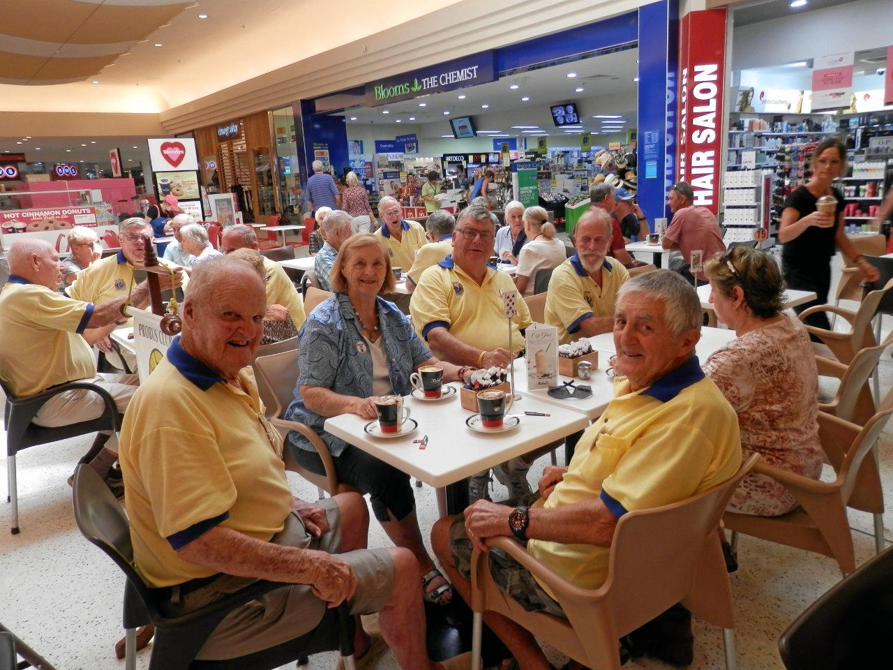 COFFEE AND CHAT: Palm Beach Combined Probus Club members enjoy their monthly coffee morning at The Pines shopping centre.