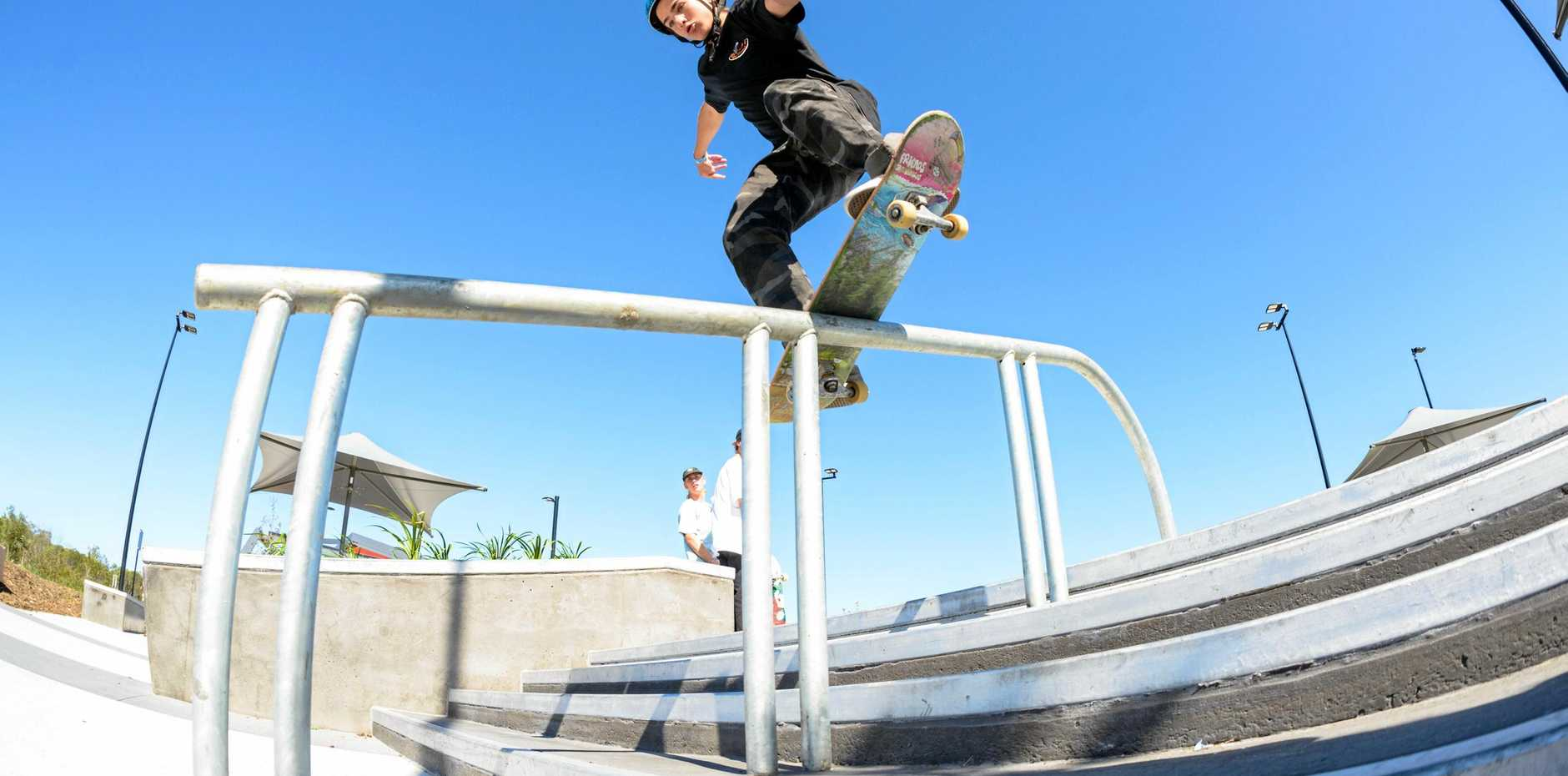 IN THE ZONE: Noosa's Felix Webster has been skateboarding since he was eight years old.