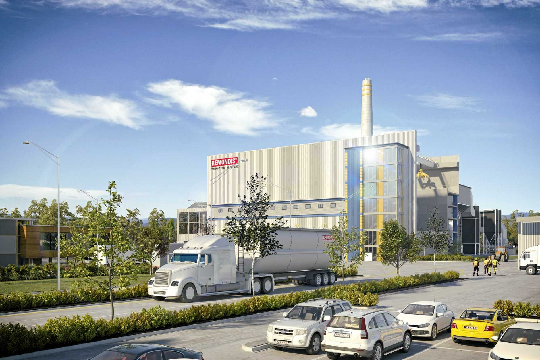 $400 million waste energy plant renders for the landfill site in the old swanbank power precinct