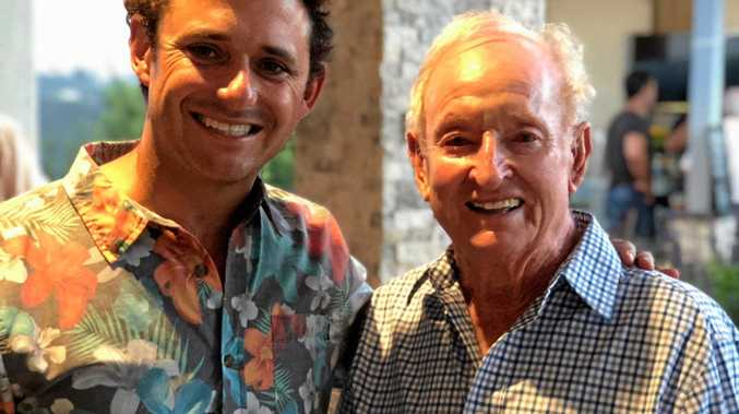Tennis coach Bryce Cunningham, formerly of the Coffs Coast, joined tennis great Rod Laver to celebrate his 80th birthday in the United States.
