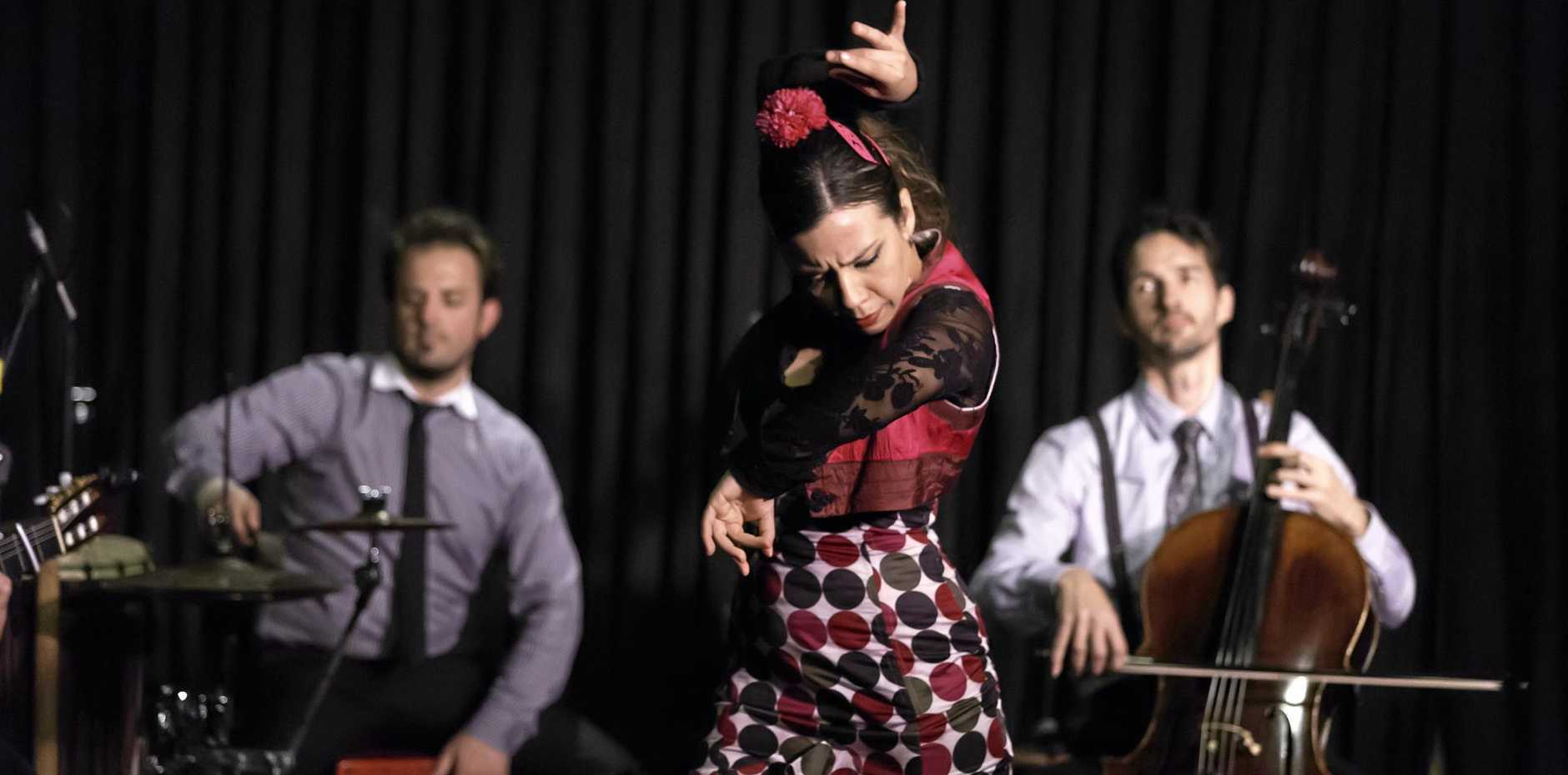 MUSIC AND DANCE: Arrebato Ensemble is a contemporary flamenco, joined by dancer Chachy Penalver.
