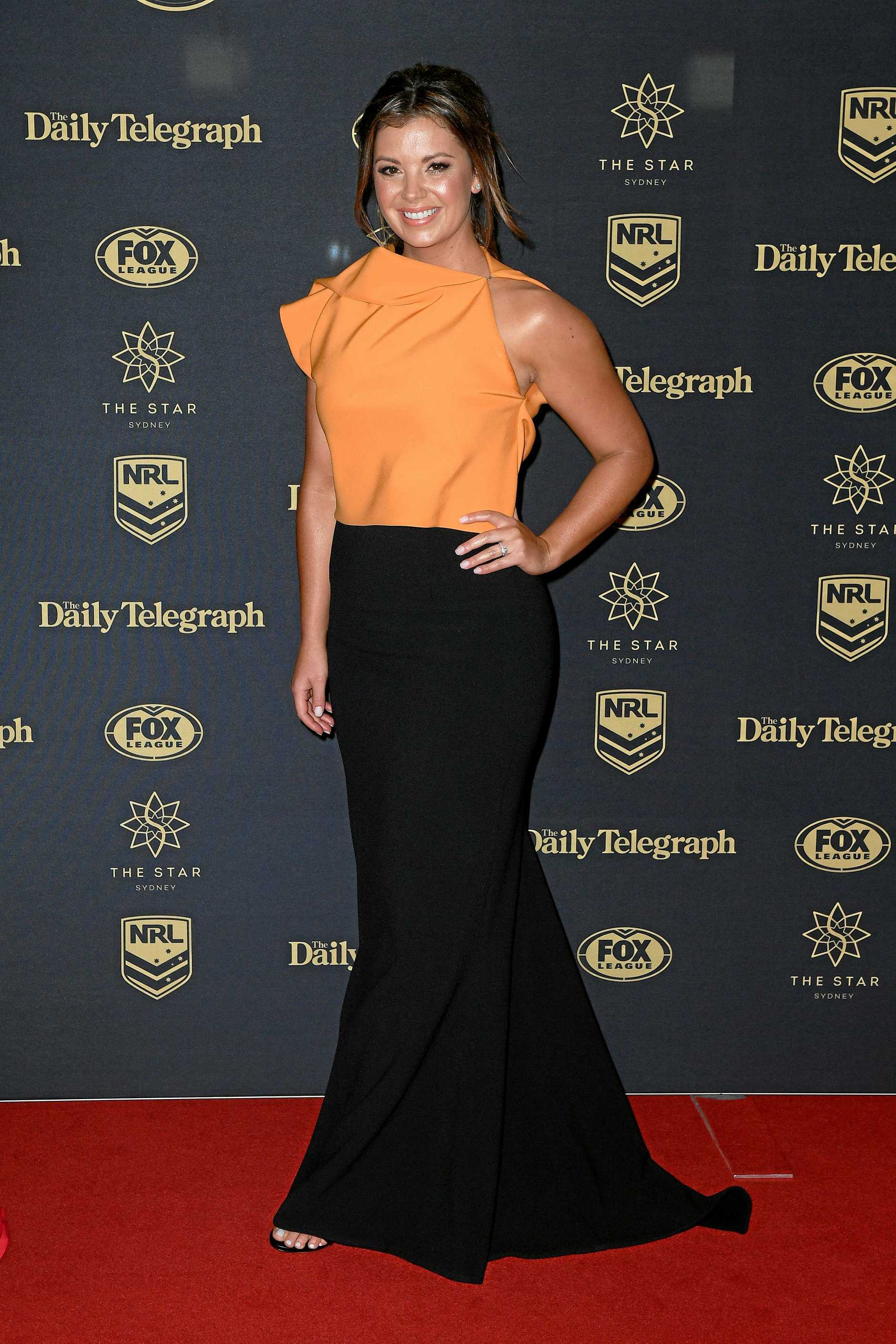 Television presenter Yvonne Sampson arrives at the Dally M Awards in Sydney, Wednesday, September 27, 2017. The awards are named in honour of former Australian Rugby League great Herbert Henry 'Dally' Messenger, and were introduced in 1980. (AAP Image/Dan Himbrechts) NO ARCHIVING