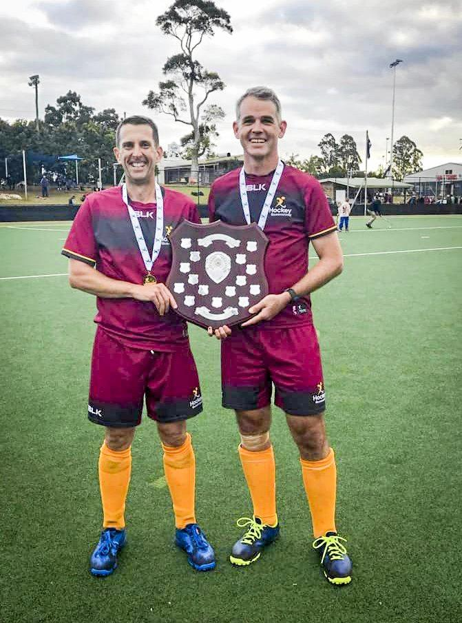 STATE TALENT: Gladstone hockey players Matt Adamson and Neil Pease recently won the Division Two Men's Masters National Championship in Lismore.